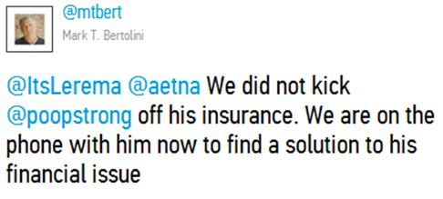 @Poop_Strong Twitter War Against Aetna 2