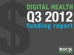 Digital Health VC Funding Deals Increases 84 percent Compared to Q3 2011
