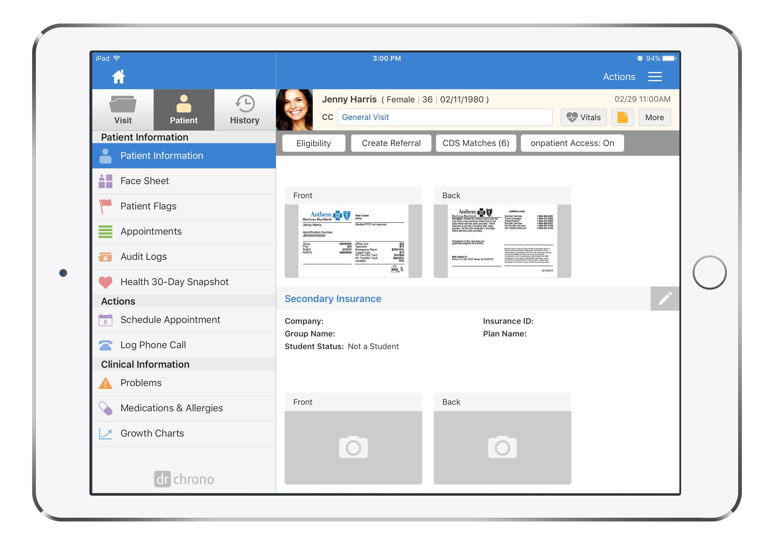 Mobile EHR drchrono Adds Electronic Capture of Insurance, Credit Cards Via App