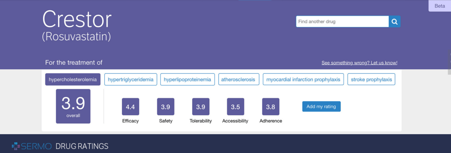 SERMO Launches Physician-to-Physician Prescription Drug Rating Tool