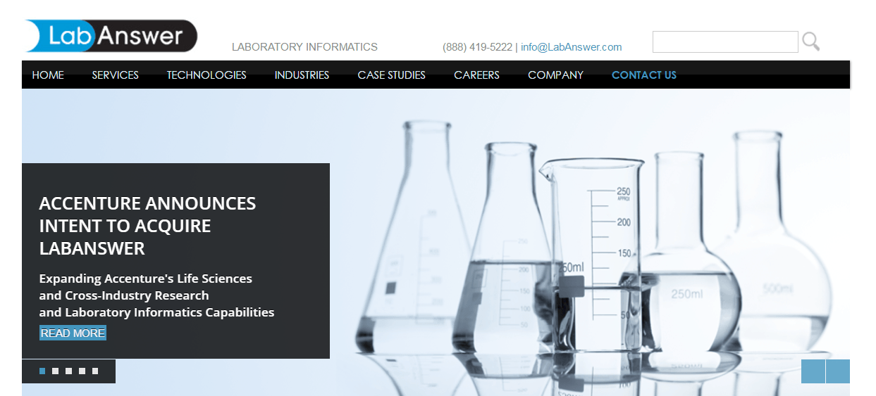 Accenture to Acquire Laboratory Informatics Consulting Firm