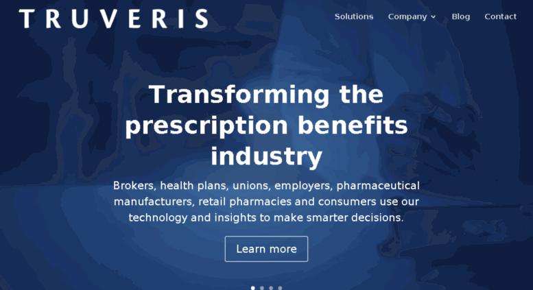 Truveris Raises $25M for Data-Driven Platform to Transform Prescription Benefits Ecosystem