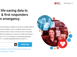 American Heart Association Launches Registry to Share Data with 911 & First Responders
