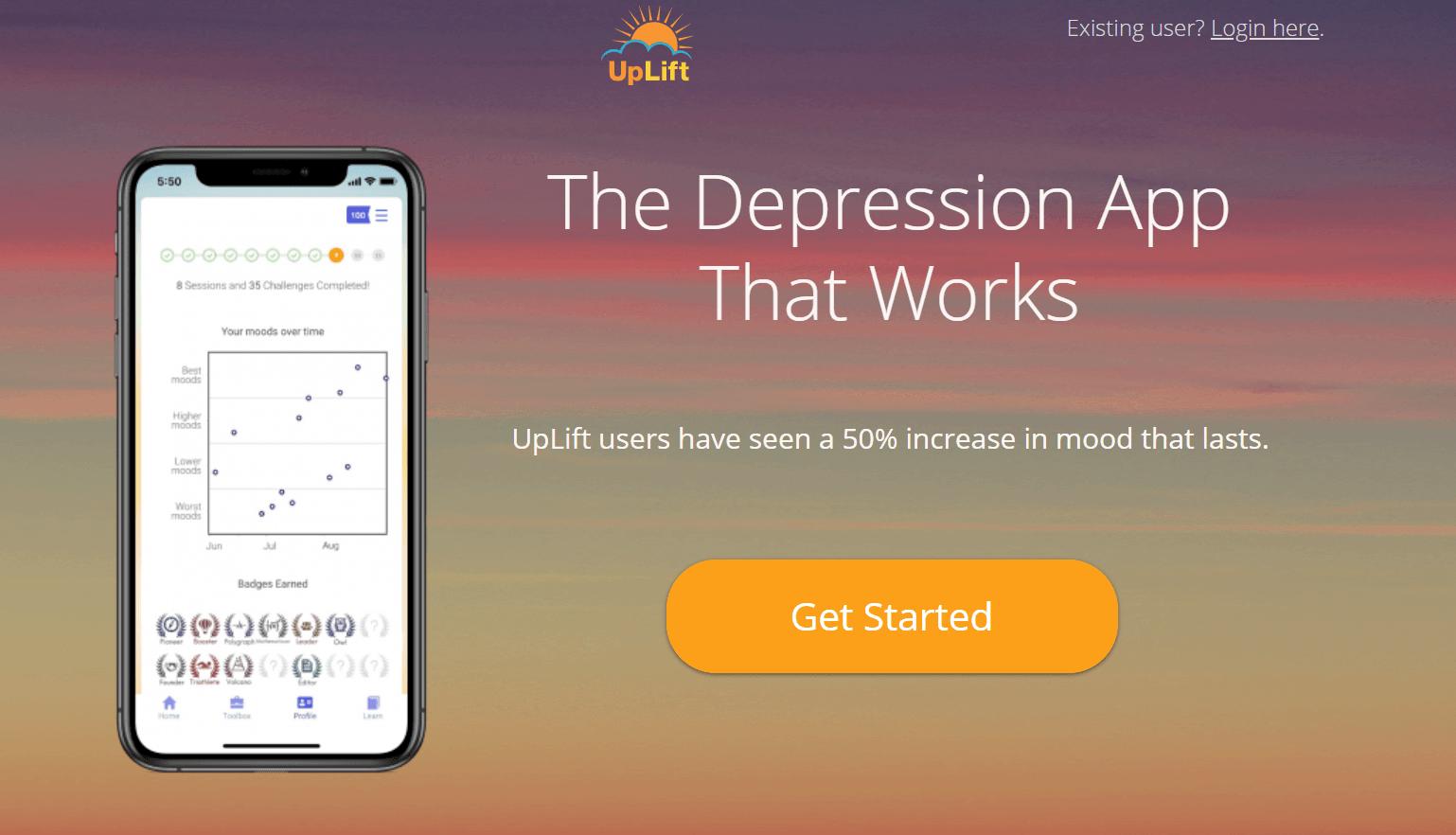 Depression App UpLift Raises $1M to Help People Fight Depression