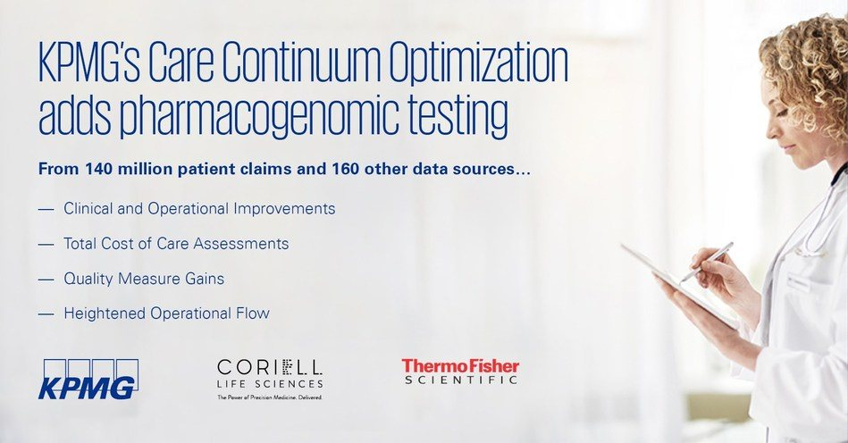 KPMG, Thermo Fisher, Coriell Life Sciences Collaborate to Offer Pharmacogenomics Testing