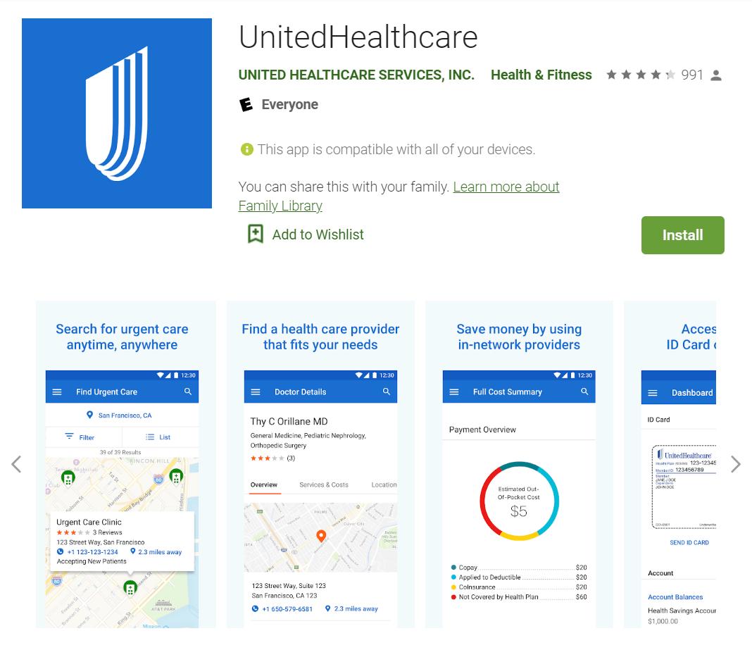 UnitedHealthcare App Telemedicine