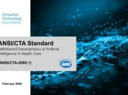 CTA Launches First-Ever ANSI-accredited Standard for AI in Healthcare