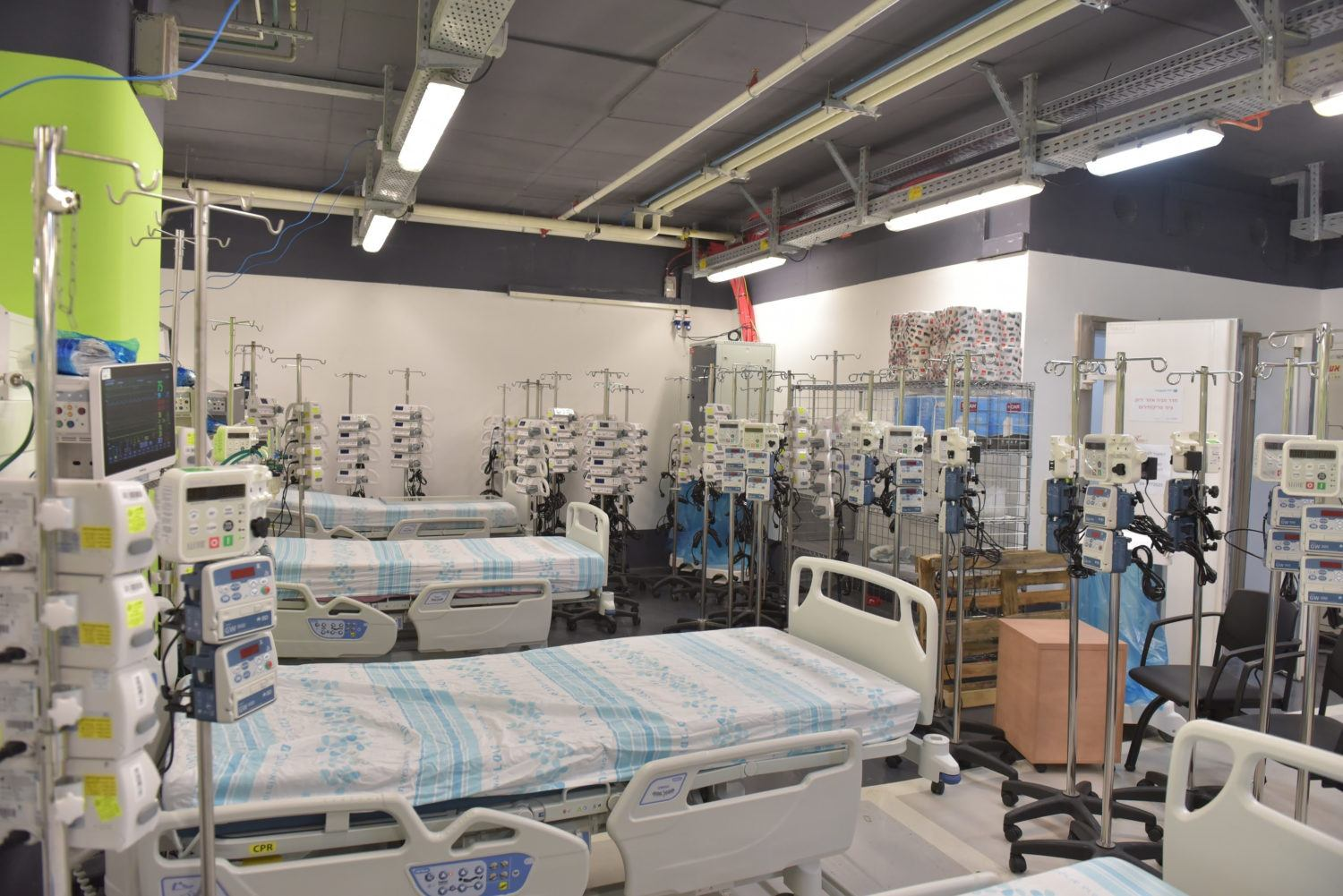 Rambam Opens Largest Underground COVID-19 Facility in Israel