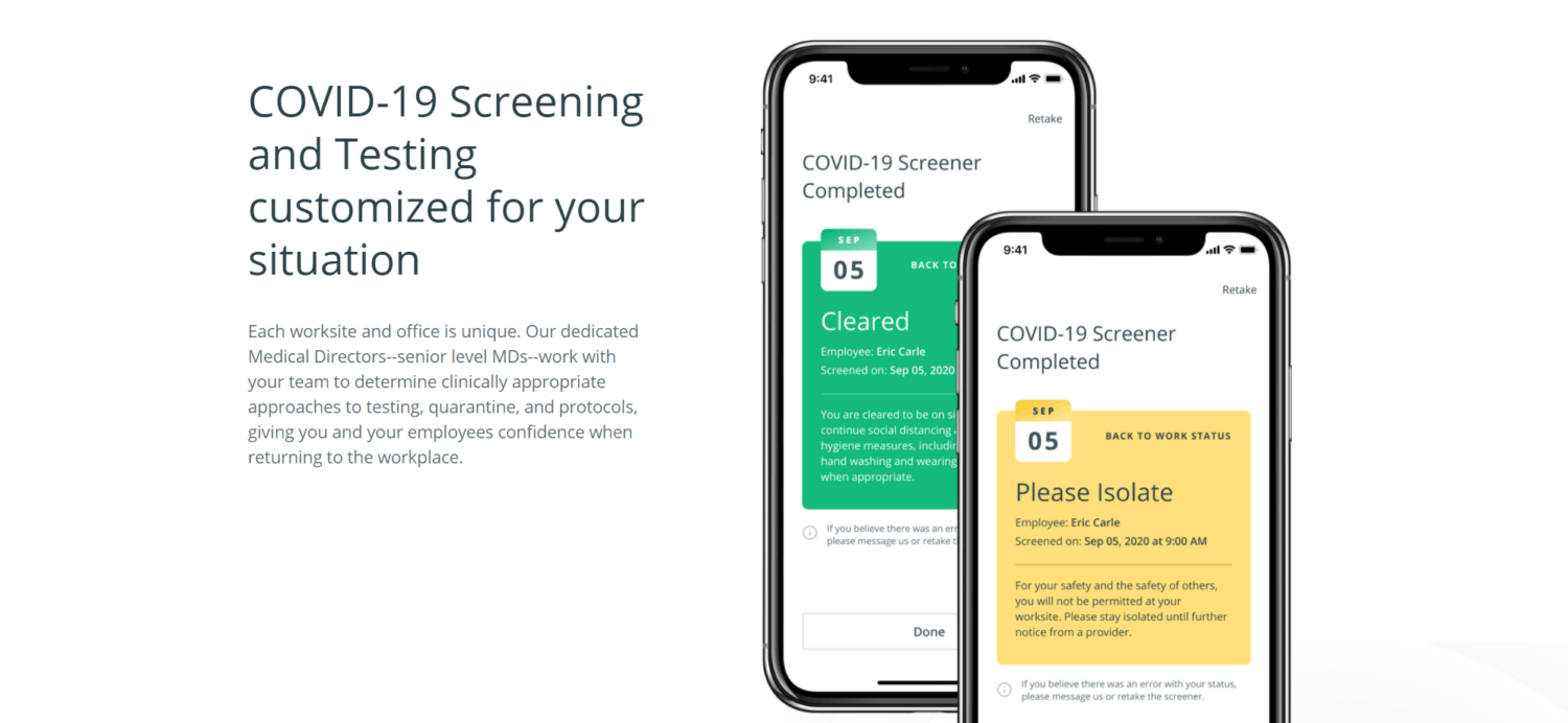 Eden Health Sees Positive COVID-19 Screens Down 84%, Launches Employer Dashboard