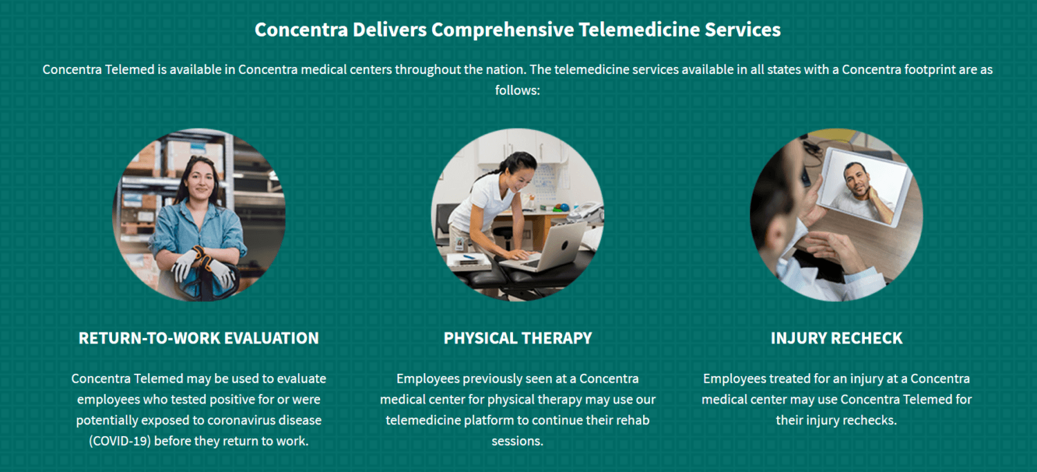 Concentra Transitions Telemed Offering from Amwell to eVisit Virtual Care Platform