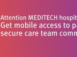 PatientKeeper与MEDITECH Expanse EHR集成在医生的移动设备上