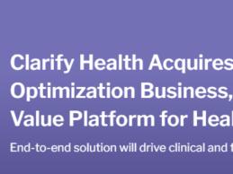 Clarify Health Acquires Apervita's Value Optimization Business – M&A