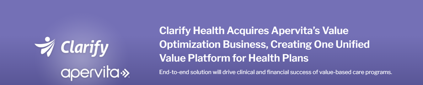Clarify Health acquires Apervita's value optimization business: mergers and acquisitions